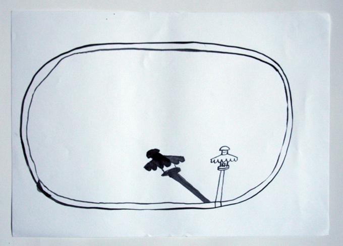 o.T. , Tusche auf Papier, 2012