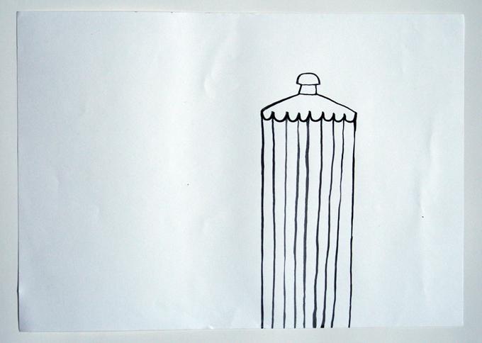 Rainlamp, Tusche auf Papier 2012