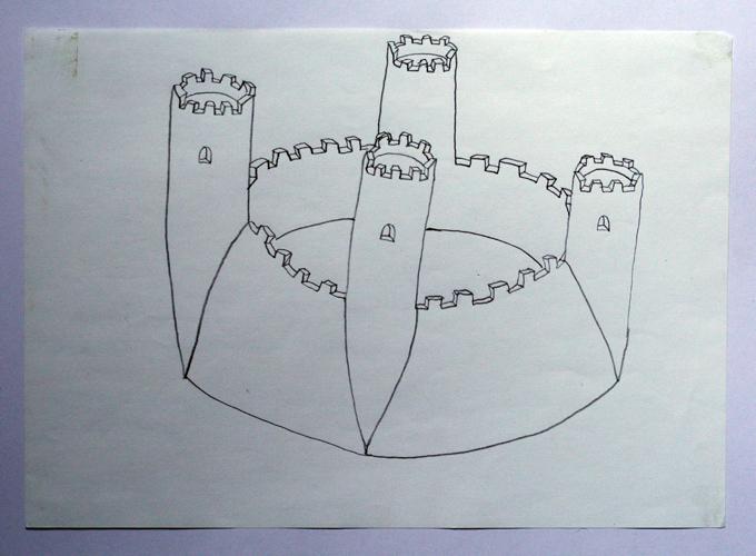 Burg, Zeichnung