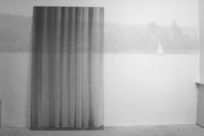 Wehmut Wandtapete, Siebdruck auf Glas