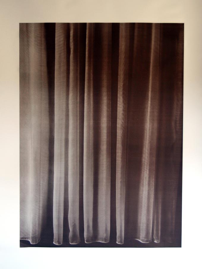 Vermeers Curtain. Siebdruck auf Papier